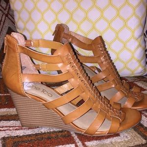 Caged Leather Wedge